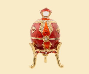 3359 Royal Egg Jeweled Box (Red)