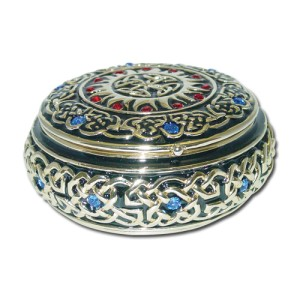3605 Round Celtic Jewelry Box