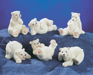 5225 Polar Bears Set of 6