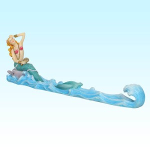 7018 Mermaid w/ Mirror Incense Burner