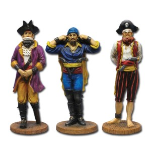 7363 See, Hear, & Speak No Evil Pirates Figurines