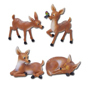 7635 Baby Deers Set of 4