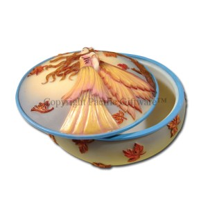 7663 Autumn Golds Trinket Box