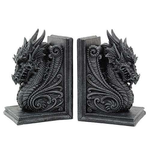 8266 Dragon Bookend Set
