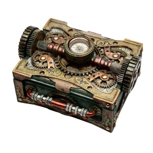 8508 Steampunk Box W/ Compass
