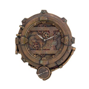 8658 Steampunk Clock With Thermometer