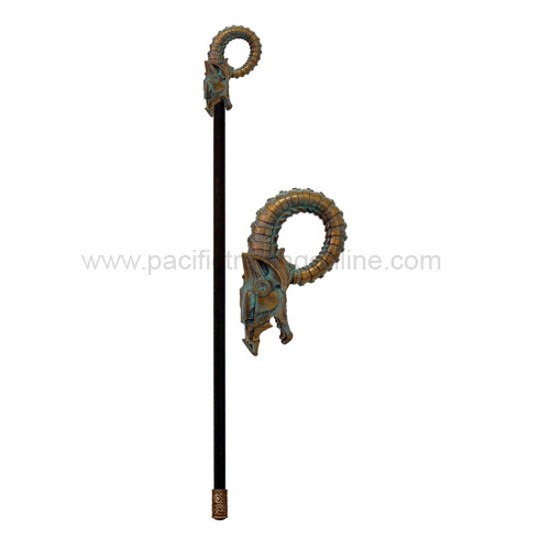 8886 Steampunk Dragon Walking Cane