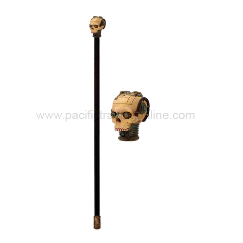 8887 Steampunk Skull Walking Cane