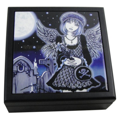 90127 Tabitha Wooden Tile Box