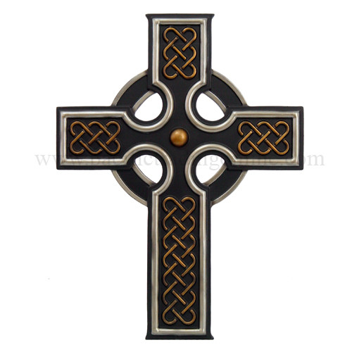 Celtic Rune Cross Wall Plaque Layered Artistic Design 12