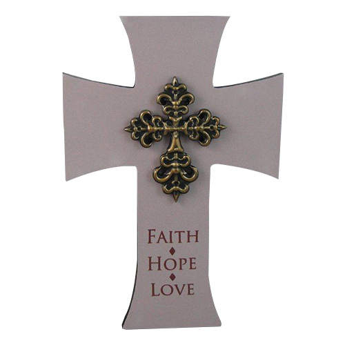 9052 Faith Hope Love Cross