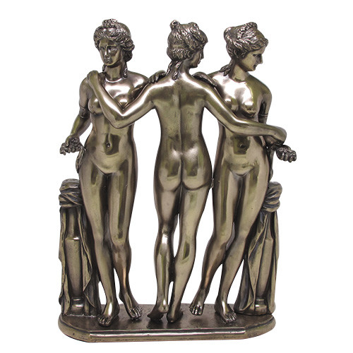 Greek goddesses of fertility three graces statue borghese collection in louvre ebay - God and goddess statues ...