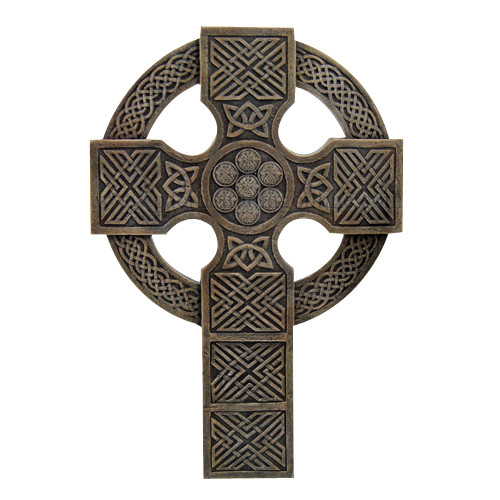 Celtic round warrior christian cross wall plaque home decor figurine ebay Home decor wall crosses