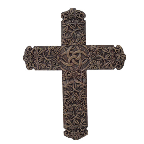 Celtic Tribal Cross Wall Plaque Layered Artistic Design 12