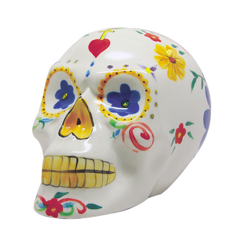 9330 White Day of the Dead Skull