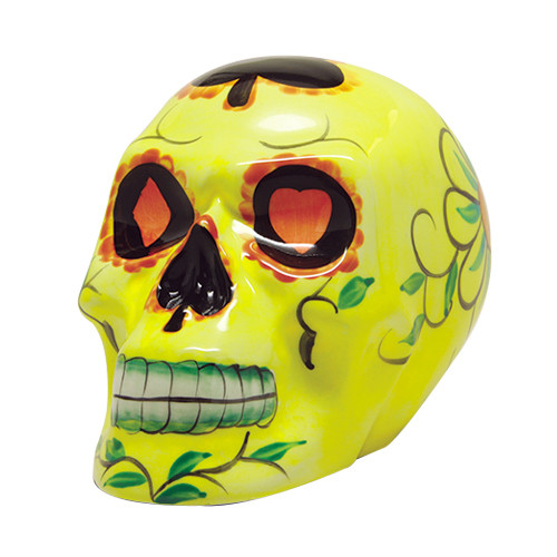 9331 Yellow Day of the Dead Skull