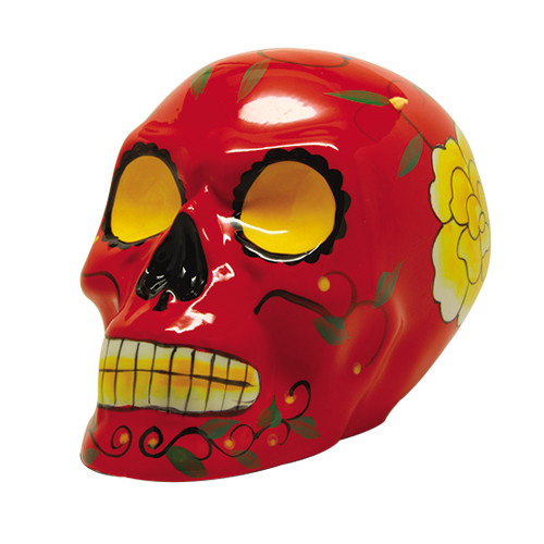 9332 Red Day of the Dead Skull