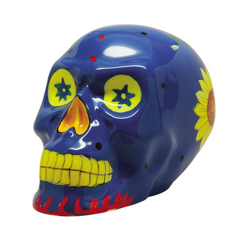 9333 Blue Day of the Dead Skull