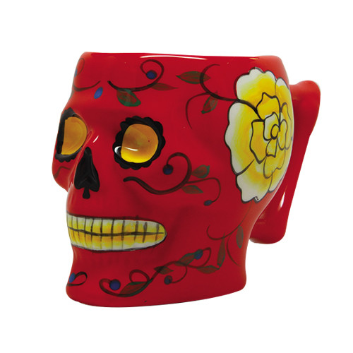9336 Red Day of the Dead Skull Mug