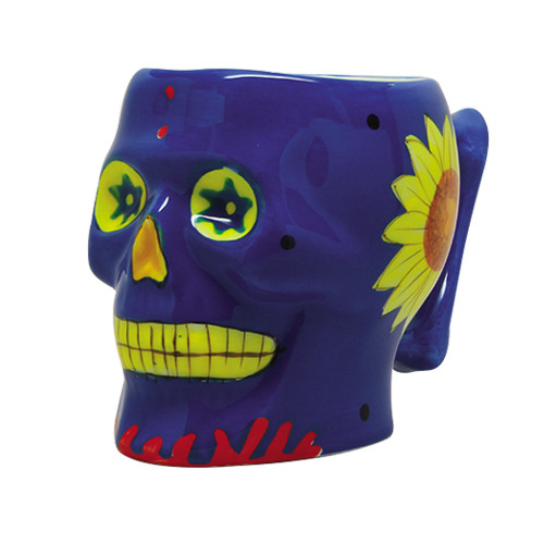 9337 Blue Day of the Dead Skull Mug