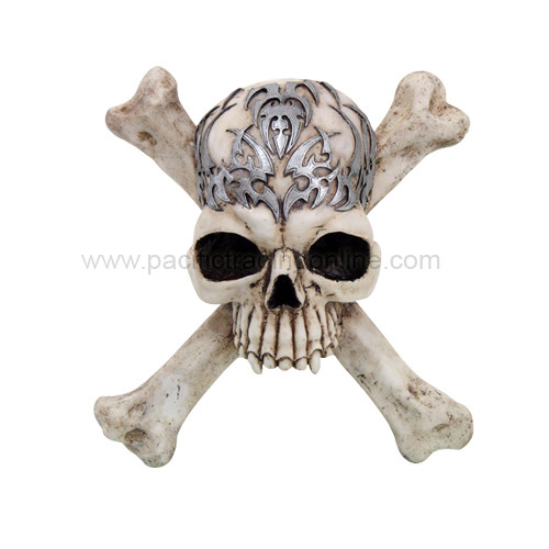 9413 Tribal Skull Cross N Bones