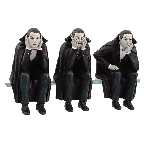 9425 Vampires Speak, See, Hear No Evil Shelf Sitters