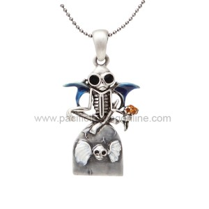 J258 Guardian Skelly Necklace