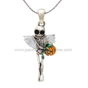 J261 Halloween Skelly Necklace