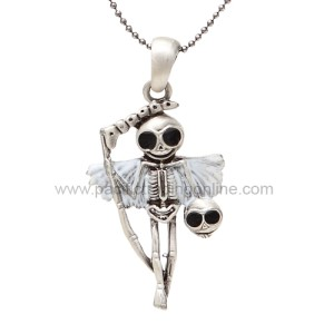 J262 Reaperman Skelly Necklace
