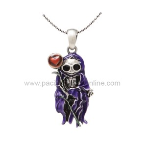 J263 Saint Skelly Necklace