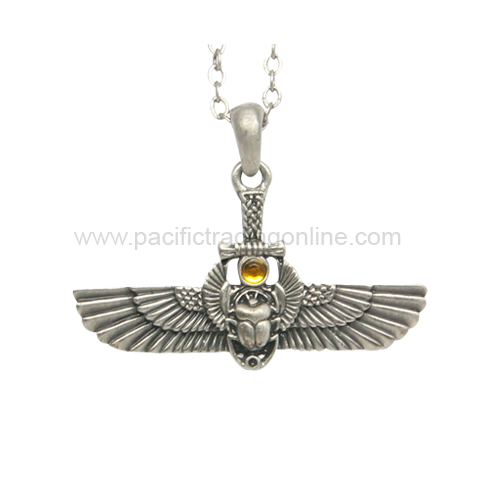 J376 Egyptian Scarab Necklace