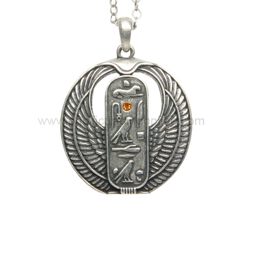 J378 Egyptian Cartouche Necklace