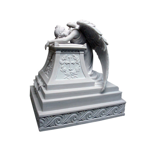 WH26435 Mourning Angel Urn- White