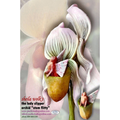 8973 Lady Slipper Orchid Flitty