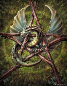 8084 Forest Pentagram Dragon