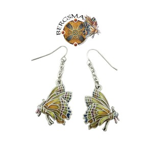 J044 Chrysalis Butterfly Earrings