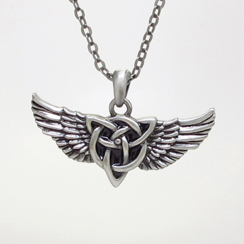 J355 CELTIC WING NECKLACE