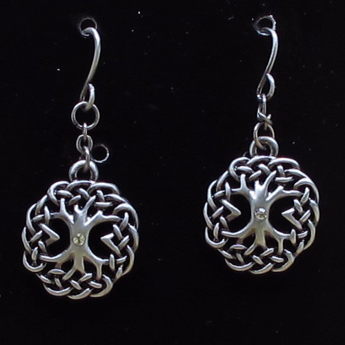 J358 CELTIC TREE EARRINGS