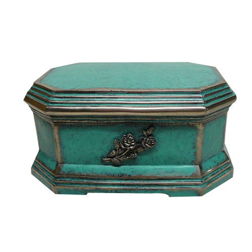 WH25320 Octagon Shape Resin Bronze Urn
